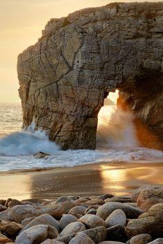 agua... bronceada Quiberon, Francia