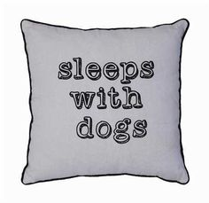 """SLEEPS WITH DOGS LINEN PILLOW 18"""" - Gracious Me!"""