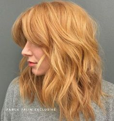 Summer Hairstyles : Strawberry Blonde Melt The Top Hair Color Trend of 2017 is Hygge According to Golden Blonde Hair, Brown Blonde Hair, Ginger Blonde Hair, Copper Blonde Hair, Warm Blonde, Blonde Ombre, Blonde Color, Strawberry Blonde Hair Color, Strawberry Hair