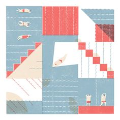 Swimmers - Amy Victoria Marsh - Illustration