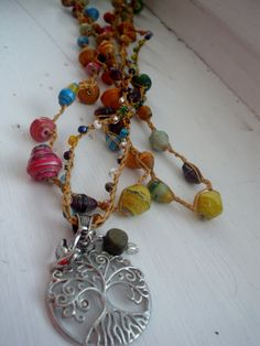 Laylu Love Crochet Necklace by FleasKnees on Etsy, $22.00