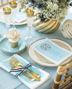 Hampton-Inspired Wedding Place Settings