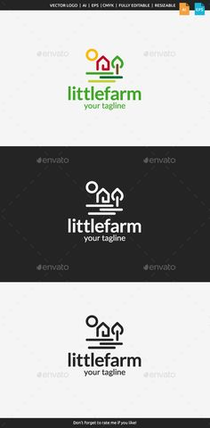 Little Farm Logo by flatos Description This logo can be used by eco farm, eco food, bakery, etc.Whats vector AI and EPS files CMYK Fully editab Iq Logo, Data Logo, Logo Branding, Logo Sketch, Waves Logo, Abstract Logo, Identity, Logo Food, Logo Design Inspiration