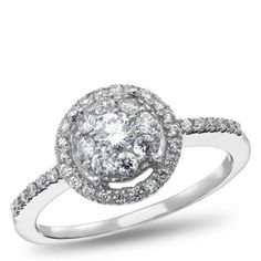 NK The Mosaic Diamond Collections, 14K White Gold Diamond Engagement Ring, 5/8 ctw.