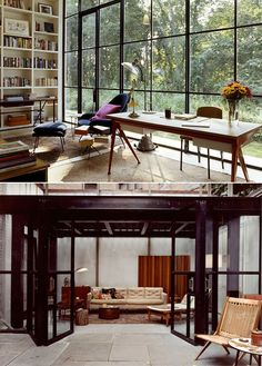 Interiors designed by architect Michael Haverland (via Destined to Design) Interior And Exterior, Interior Design, Nook And Cranny, Window Wall, Reading Room, Beautiful Space, Windows And Doors, Interior Inspiration, Home Goods