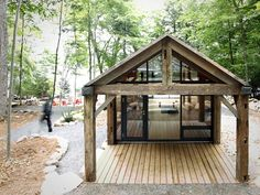 Collaboratively made by BLDG Workshop and 608 Design, this Bunkie Co. studio gives the client a remote cabin retreat in the woods of Canada's Muskoka region. The lakeside constructed was made of CNC-cut wood and prefabricated for minimal environmental impact. The serene design showcases the contrasting texture of the rustic exterior and slick interior, both …