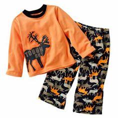 Need to stock up on pj's from Costco! Carter's Tough Guy Moose Fleece Pajamas - Baby