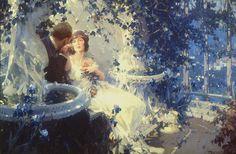 Walter Everett ; 'Lovers in the Garden'