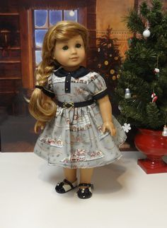 Santa Express  vintage style dress for American by cupcakecutiepie, $47.00