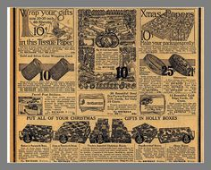 Another page from the 1916 Sears catalog, Christmas, Make your packages beautiful bottom half of page by mcudeque, via Flickr