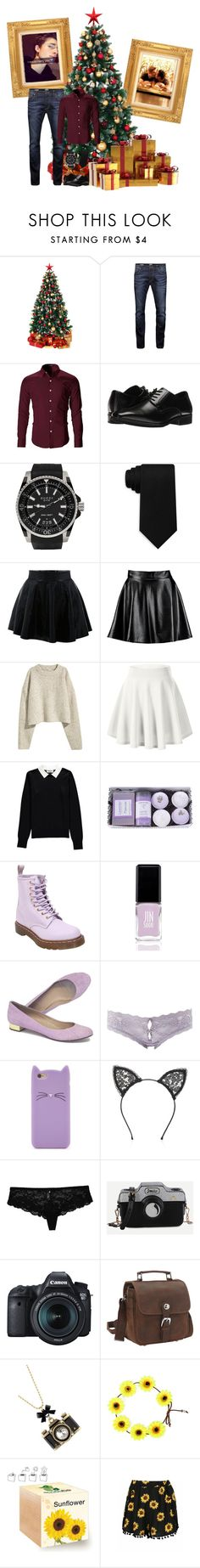 """Jake on Christmas Eve/Christmas"" by mikaela-madrid ❤ liked on Polyvore featuring Jack & Jones, Stacy Adams, Gucci, Tommy Hilfiger, Boohoo, Essentiel, Dr. Martens, JINsoon, J.Crew and Charlotte Russe"