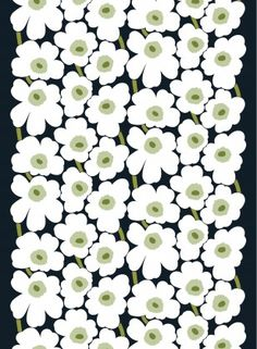 iPhone壁紙 Wallpaper Backgrounds and Plus Marimekko Unikko… Textiles, Textile Patterns, Print Patterns, Floral Patterns, Marimekko Wallpaper, Marimekko Fabric, Pvc Fabric, Green Fabric, Cotton Fabric
