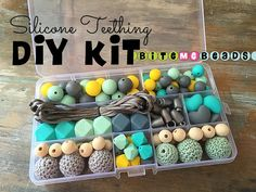 Silicone Teething DIY Kit  Food Grade Loose by BiteMeBeads on Etsy