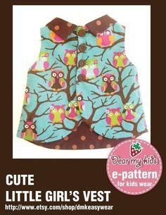Cute Little Girls Vest 12 months upto age 6 PDF by dmkeasywear