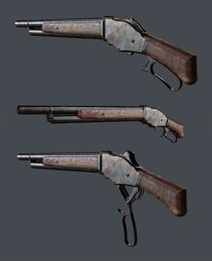 Winchester Model 1887 Lever-Action Shotgun, Travis  Locke on ArtStation at https://www.artstation.com/artwork/winchester-model-1887-lever-action-shotgun