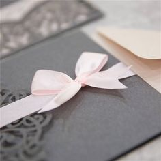 d285e4f90a52 DIY Invitation Kit. Blush and Gray Laser Cut Invites for Wedding. Grey  Wedding. Quince. Sweet Sixteen. Pocket Invites. Lasercut. Colors