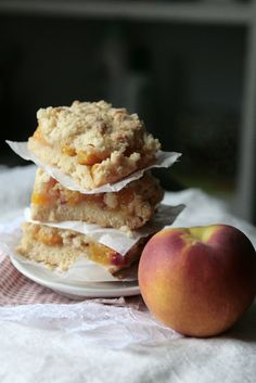 Indigo Scones: Peach Crumble Bars