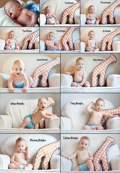 Show proportion during baby's first year with a large toy. Good chance for cute poses, too! | Tabitha Blue, from Fresh Mommy.