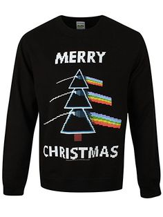 Plastic Head Mens Pink Floyd Dark Side Christmas Jumper - Black - X Large