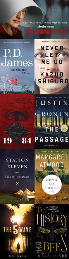 If you've also just finished the show and want more, here are 8 dystopian novels to read after watching the Handmaid's Tale.