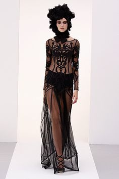 #Temperley - Ready-to-Wear - 2010 Spring-Summer  black dresses #2dayslook #new style #blackstyle  www.2dayslook.com