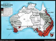 Population Map of Australia, from the 1921 Census
