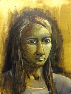 Self portrait - 03/15 - Acrylic on canvas