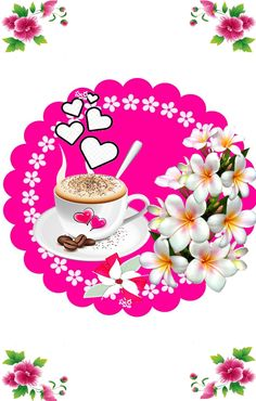 Wallpaper  Saved by SRIRAM Coffee Heart, Coffee Love, Coffee Cups, Good Morning Coffee, Morning Flowers, Butterfly Wallpaper, Miniature Fairy Gardens, Good Morning Images, Heart Art