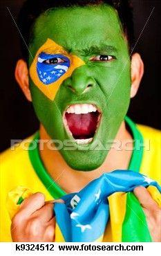 Brasileiro, shouting Ampliar Foto