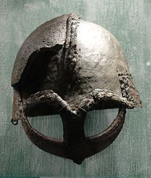 Norway - the helmet found at Gjermundbu farm in Haugsbygd, near Hønefoss, Ringerike. Buskerud, is the only Viking age helmet that has ever been found