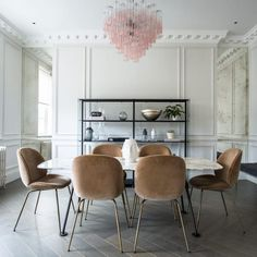 An aesthetically stunning home filled with timeless classics from our elite brand partners. Designed, sourced & supplied by Interiors. Dining Area, Dining Chairs, Dining Room, Beetle Chair, Luxury Chairs, Piece A Vivre, Cool Chairs, Beautiful Interiors, Modern Chairs