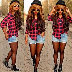 Plaid it out...more pics n details of the outfit @ www.fashionbible.me |