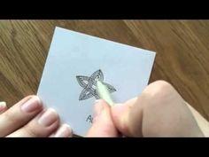 Zentangle: Auraknot - YouTube