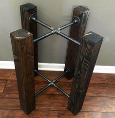 CUSTOM: Wood Beam & Iron Pipe Round/Square Dining door StyleOfAges
