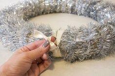 christmas ornament wreath, christmas decorations, crafts, seasonal holiday decor, wreaths, Add a ribbon hanger now