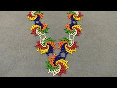 Creative Embroidery, Basic Embroidery Stitches, Embroidery Hoop Art, Beaded Embroidery, Ribbon Flower Tutorial, Crochet Flower Tutorial, Diy Fashion Hacks, Art N Craft, Bead Jewellery