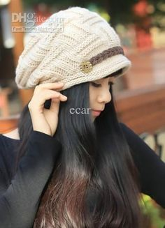 Wholesale 100pcs Stylish Knitting Bounet Fashion Women Winter Hats Cap Lady  Warm Cap 6 Color Free 747add0f7f7a