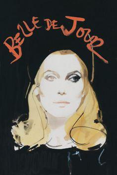 Catherine Deneuve by David Downton for Criterion Collection's Belle de jour.