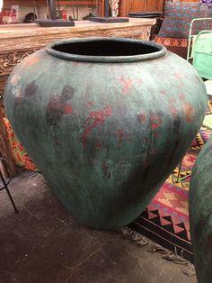 Oasis Oamaru | Pair Of Large Copper Dye Pots - Oasis Oamaru