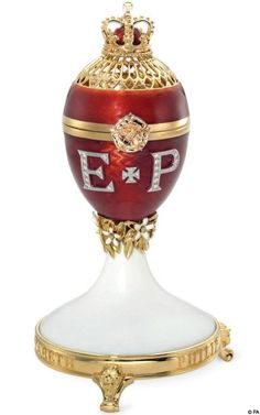 Faberge eggs made to commemorate the Queens diamond anniversary