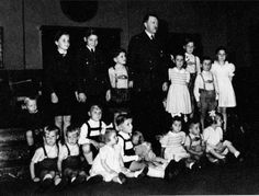 April 20, 1943 at the Berghof. Hitler's 54th birthday. A Hoffmann outtake and almost never seen. (via putschgirl)