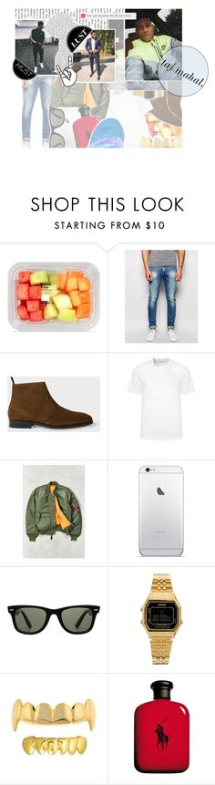 """""""// """"what's up, what's up? what the body do? like a new car when the body new, wanna get in, wanna ride with you ride on me, i'll ride on you ."""" --〔taj.〕"""" by e-mpathy ❤ liked on Polyvore featuring Scotch & Soda, Paul Smith, Versace, Alpha Industries, Ray-Ban, Casio, Ralph Lauren, chocolateappreciation and typeoriginal"""