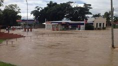 Ingham flooded after Cyclone Ita. Australia, April, 2014.