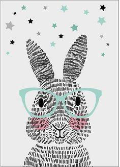 Leuke poster van het merk Sparkling Paper.Dit konijn bestaat niet uit één, niet uit twee, maar uit honderdachtentwintig streepjes. Geen schaapjes maar streepjes tellen. Welterusten!Formaat: 42 x 29,7 cm.Deze poster is ook als ansichtkaart verkrijgbaar. Klik HIER