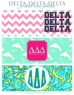Jessica Marie Design Blog: Delta Delta Delta Facebook Cover Photos