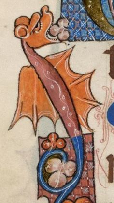 Detail from The Luttrell Psalter, British Library Add MS 42130 (medieval manuscript,1325-1340), f27v