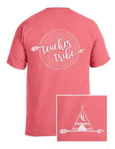 Teacher Tribe Teepee T-Shirt -Aztec Back- Teacher shirts, team shirts, grade level shirts, staff shirts, comfort colors - mens pink flannel shirt, shirts for gents, mens black cotton shirt *ad