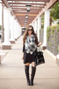 Chanel, Boutique, Blacket Scarf, Fashion, Style, Blogger, Blog, Fashion Blogger, Style Blogger, Little Black Dress, LBD