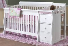 The Tuscany 4 in 1 convertible crib is a stylish, modern designed crib made of solid, sturdy construction with recessed hardware for your child's safety. The Tuscany Crib can be used a crib, daybed, t