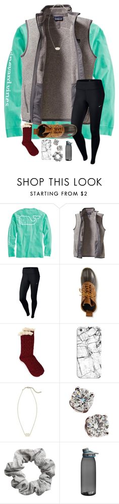 """""""so tired """" by blonde-prepster ❤ liked on Polyvore featuring Vineyard Vines, Patagonia, NIKE, L.L.Bean, Free People, Casetify, Kendra Scott, Tiffany & Co., H&M and CamelBak"""